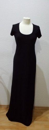 Benetton: elegantes, schwarzes Maxikeid in Größe M