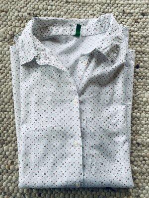 Benetton Chemise à manches longues blanc cassé