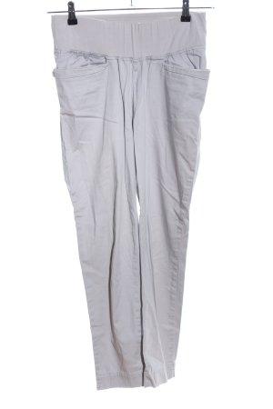 Benetton Pantalon taille haute gris clair style décontracté