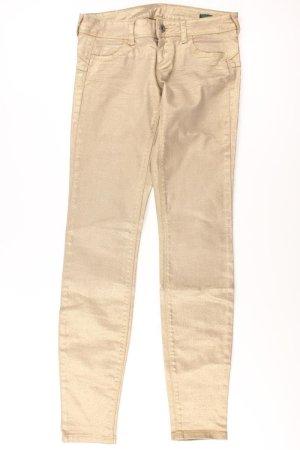 Benetton Hose Größe W27 gold aus Baumwolle