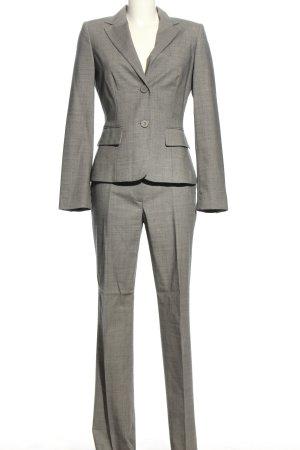 Benetton Tailleur-pantalon gris clair Motif de tissage style d'affaires