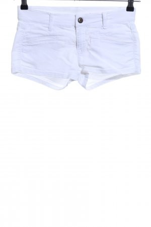 Benetton Hot Pants weiß Casual-Look