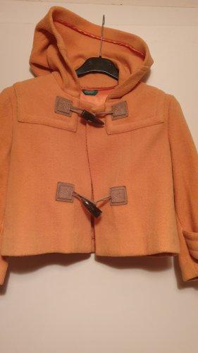 Benetton Veste à capuche orange clair laine