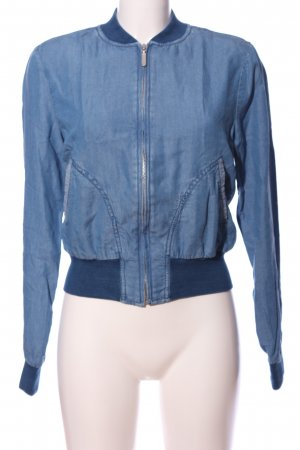 Benetton Jeans Giacca bomber blu stile casual