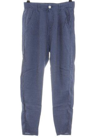 Benetton Jeans Pantalone chino blu motivo a righe stile casual