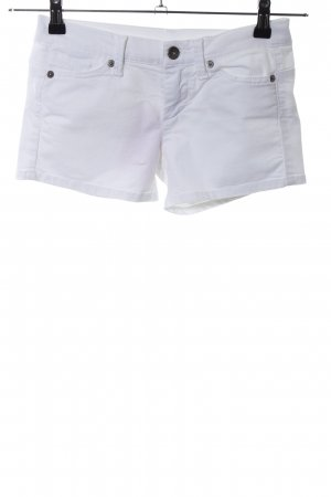Benetton Jeans Hot Pants weiß Casual-Look