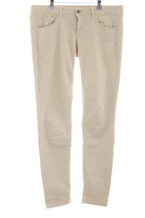 Benetton Jeans Pantalon taille basse crème style décontracté