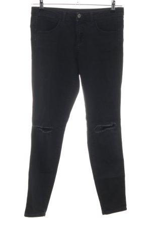 Benetton Jeans Jeans vita bassa nero stile casual