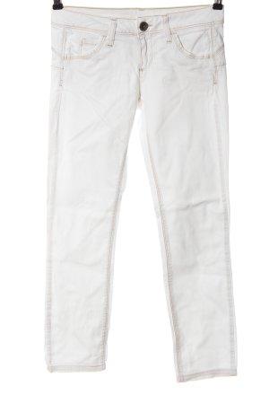 Benetton Jeans Jeans taille basse blanc style décontracté