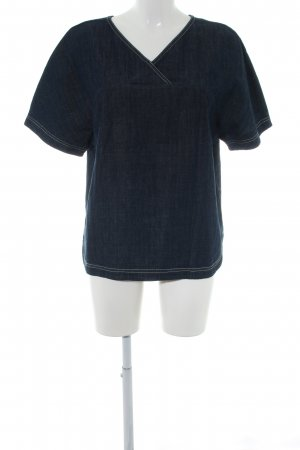 Benetton Jeans Denim Blouse blue business style