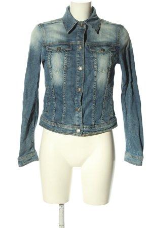 Benetton Jeans Veste en jean bleu style décontracté