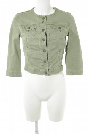Benetton Jeans Denim Jacket sage green Metal buttons
