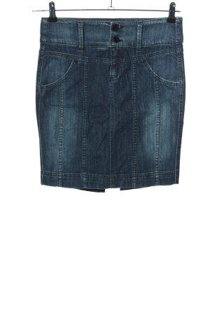 Benetton Jeans Jupe en jeans bleu style décontracté