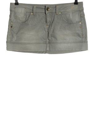 Benetton Jeans Jupe en jeans gris clair style décontracté