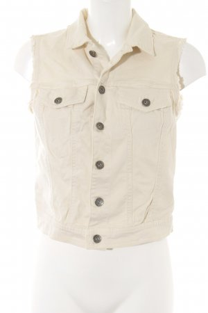 Benetton Jeans Denim Vest oatmeal