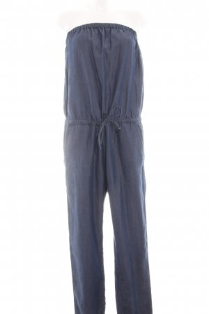 Benetton Jeans Jumpsuit blue flecked casual look