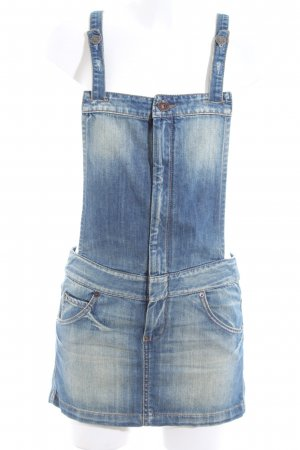 Benetton Jeans Pinafore Overall Skirt blue casual look
