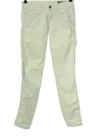 Benetton Jeans Pantalon cigarette turquoise style décontracté