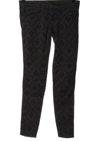 Benetton Jeans Pantalon cigarette brun-noir imprimé allover style décontracté