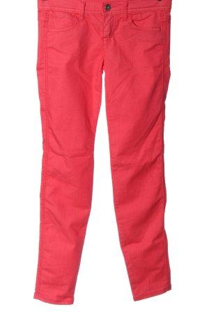 Benetton Jeans Jeans cigarette rouge style décontracté