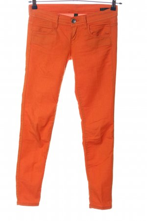 Benetton Jeans Skinny Jeans light orange casual look