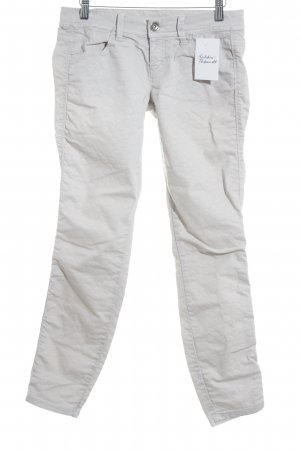 Benetton Jeans Skinny Jeans light grey-cream animal pattern classic style