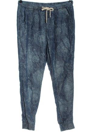 Benetton Jeans Pantalon en jersey bleu motif abstrait style décontracté