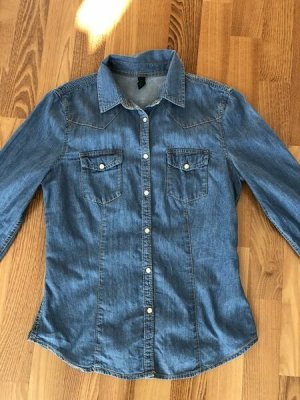 Benetton Denim Shirt cornflower blue