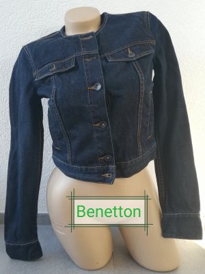Benetton Jeans Denim Jacket blue-dark blue cotton