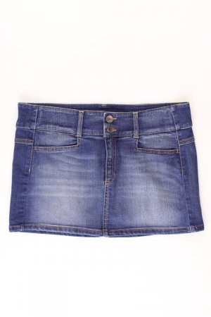Benetton Jupe en jeans bleu-bleu fluo-bleu foncé-bleu azur coton