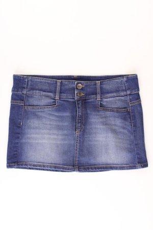 Benetton Denim Skirt blue-neon blue-dark blue-azure cotton