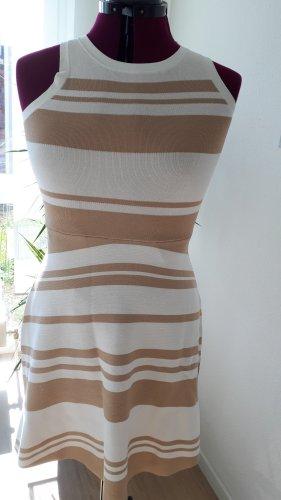 Benetton Kleid braun weiß Gr. 38