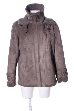 Benetton Fake Fur Jacket brown casual look