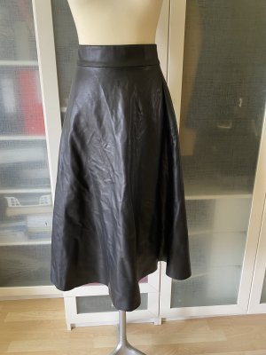 Benetton Leren rok zwart