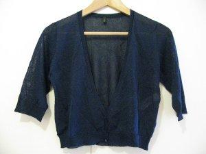Benetton – kurze dunkelblaue Strickjacke