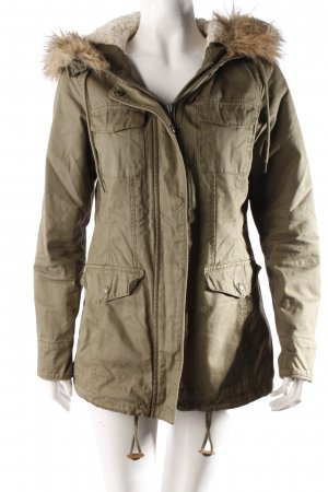 Benetton short coat olive green