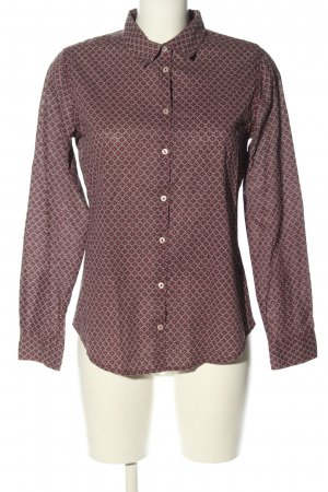 Benetton Langarm-Bluse grafisches Muster Casual-Look