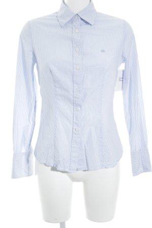 Benetton Langarmhemd weiß-himmelblau Streifenmuster Business-Look