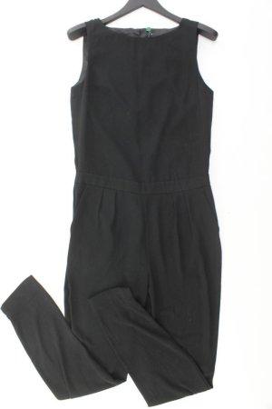 Benetton Langer Jumpsuit Größe 36 schwarz aus Polyester