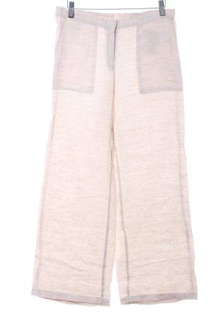 Benetton Linen Pants oatmeal weave pattern casual look