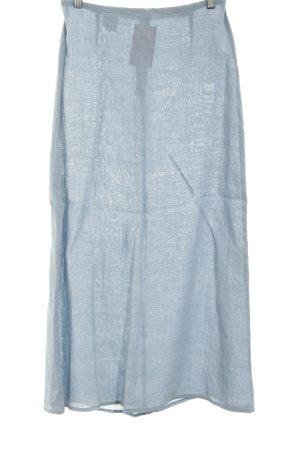 Benetton Jupe en lin bleu style décontracté
