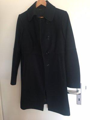 Benetton Wool Coat dark blue