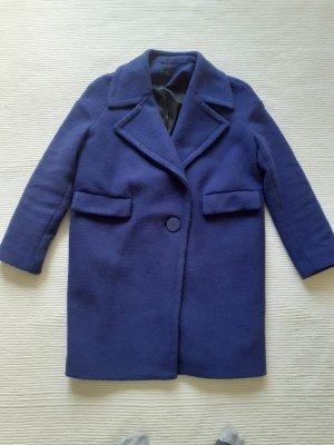 Benetton Oversized jas blauw