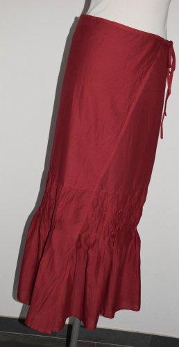 Benetton Falda cruzada rojo Algodón