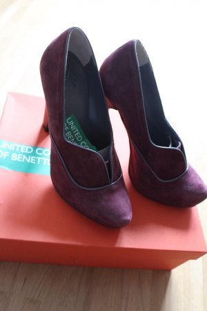 Benetton Nubukleder High Heels !NEU!