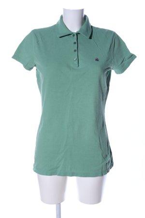 Benetton Polo-Shirt grün Casual-Look