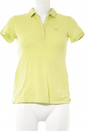 Benetton Polo-Shirt limettengelb Casual-Look