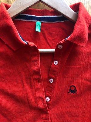 United Colors of Benetton Koszulka polo czerwony-ciemnoniebieski
