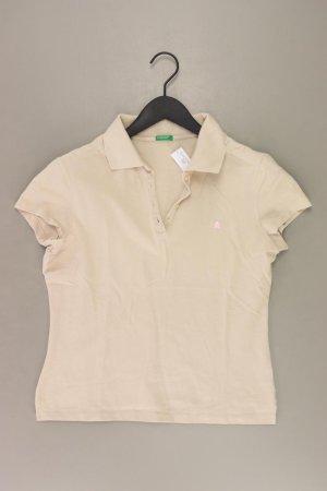 Benetton Poloshirt Größe L creme aus Baumwolle