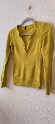 Benetton Wool Sweater neon yellow